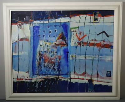 """Aleksandras Vozbinas. Paveikslas """"Lauke, už durų"""". 1997"""