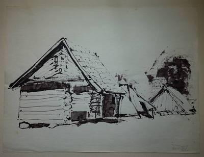 """Genovaitė Jacėnaitė. Piešinys """"Šuminai"""". 1995"""