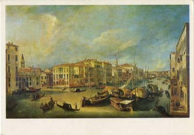 Der Canal Grande in Venedig mit der Rialtobrücke