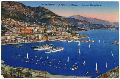 Nežinomas fotografas. Monaco – Le Port et les Régates – Vue sur Monte-Carlo