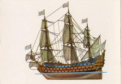 Viktoras Dygalo. Французский линейный корабль «Солей Руайяль». 1990