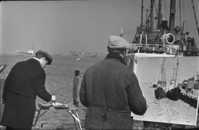 Bernardas Aleknavičius. Dailininkai uoste. 1964