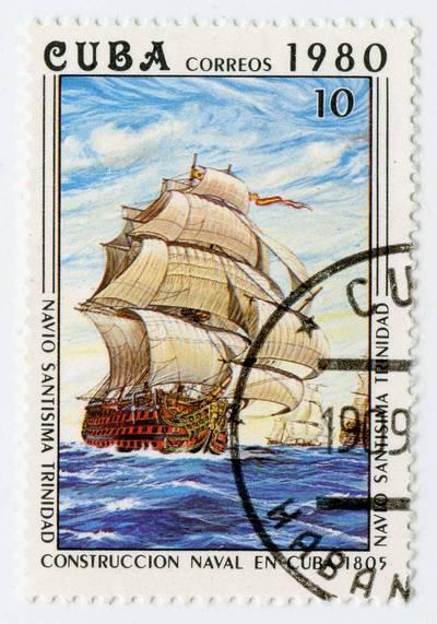 """Kubos pašto ženklas """"Navio """"Santísima Trinidad"""""""