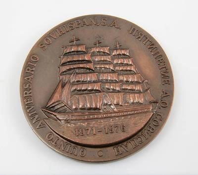 "Medalis ""Bendrovei ""Sovispan"" – 5 metai"". 1975"