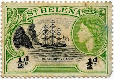 """Šv. Elenos kolonijos (Britų imperija) pašto ženklas """"The Colony's Badge"""""""