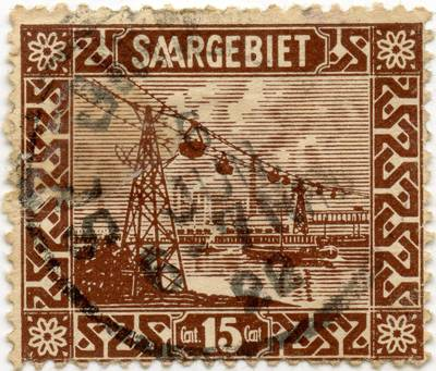 Saro srities 15 sentimų standartinis pašto ženklas