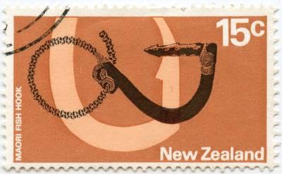 """Naujosios Zelandijos pašto ženklas """"Maori Fish Hook"""""""
