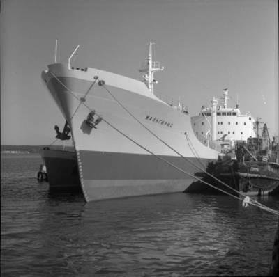 """Bernardas Aleknavičius. Tanklaivis """"Žalgiris"""". 1970"""