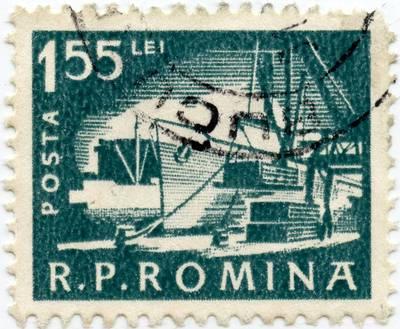 Rumunijos 1,55 lėjos standartinis pašto ženklas