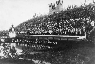 """Skaitmeninis vaizdas """"Dainų šventė Kaune 1924 metais"""". 2016"""