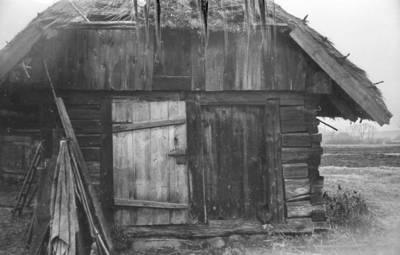 """Algirdas Kubilius. Fotonegatyvas """"Durys (tvartas)"""". 1966-08-19"""