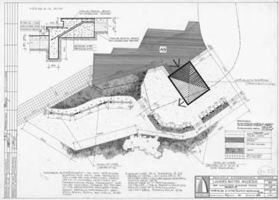 Brėžinys. Aikštelės A – IV pietinio šlaito genplanas. M 1:100. Aversas. 1970