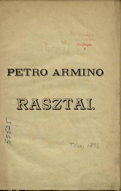 Rasztai / Arminas Petras.
