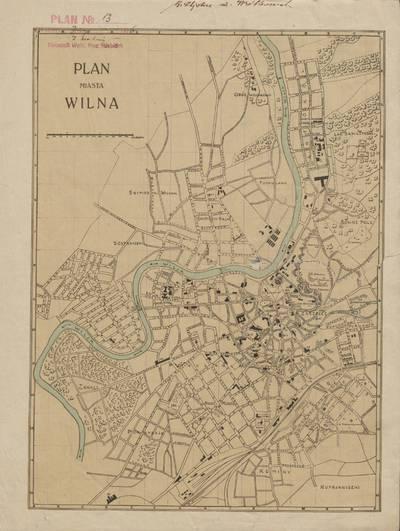 Plan miasta Wilna