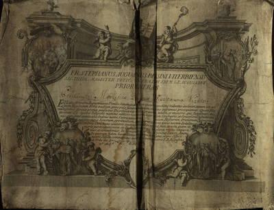 Vilniaus kapitulos fondas. F43, Bažnytinių įstaigų bendro pobūdžio dokumentai. Augustijonai. Augustijonų magistras suteikia Koliškaitei visas privilegijas ir malones, kokias tik teikia augustijonų vienuolynai