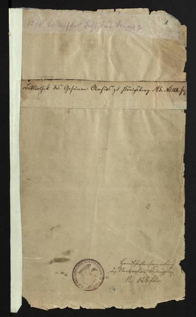 Rėzos Liudviko fondas. F137. Lexicon Germanico - Lithvanicum et Lithvanico - Germanicum