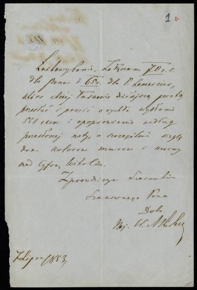 Autografų kolekcija. F7, Laiškai: raidė K. [Laiškai] / Kirkoras (Kirkor) A[domas] - Adomui Zavadskiui