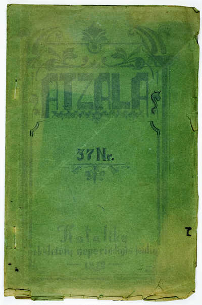 Laikraštėlių kolekcija : Atžala. - 1923-1932. 99 : Nr.37. - 1932. - 41, [1] p.