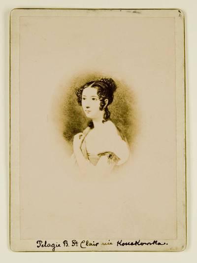 Kosakovskių šeimos archyvas. 7 : Ikonografija. - 1790-[1919]. 1431 : [Tapyto Pelagėjos Kosakovskytės-Bover Saint Clair portreto nuotrauka]. - 189-
