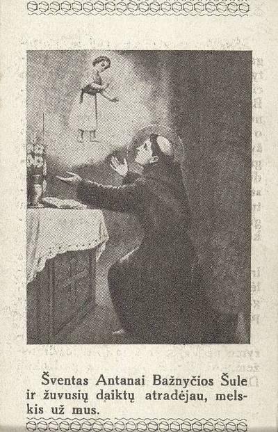 """""""Šv. Antanas gimė 1195 m. Portugalijoje ..."""". - 1938"""