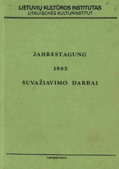 Jahrestagung. 1985. - 1986. - 128 p.