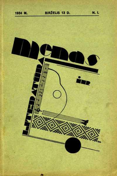 Menas ir literatūra. - 1934