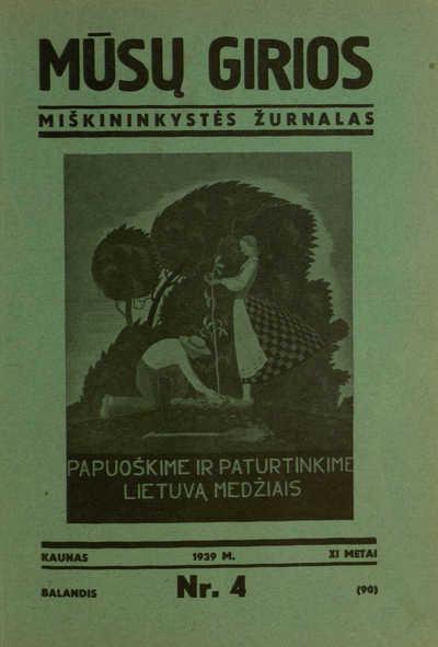 Mūsų girios / redaguoja Jonas Kuprionis. - 1929-1940, 1943-1944, 1957-1964