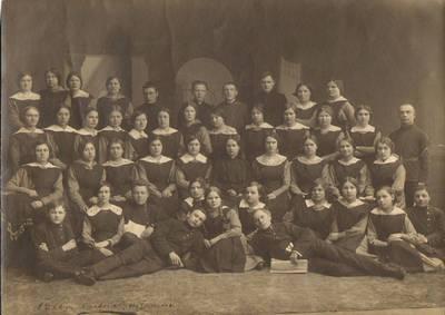 """Nežinomas fotografas. """"Saulės"""" draugijos mokytojų I-as kursas Voroneže 1916–1917 m. 1916"""
