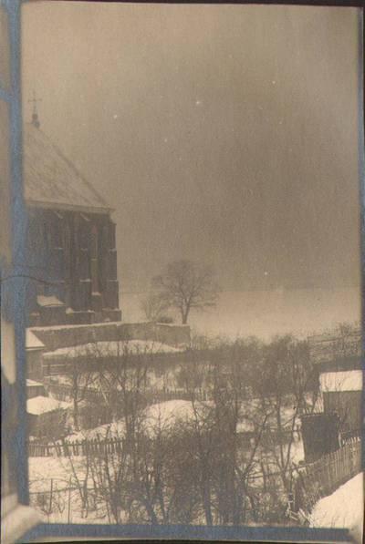 """Nežinomas fotografas. Fotografija. """"Žvilgsnis į Vaikų Namų miegamojo kambario apylinkę"""". 1924"""