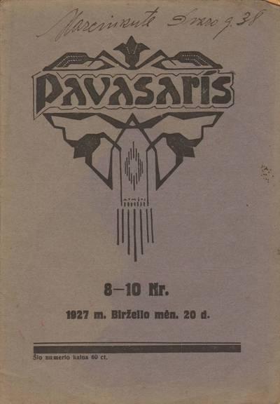 PAVASARIS. 1927-06-20