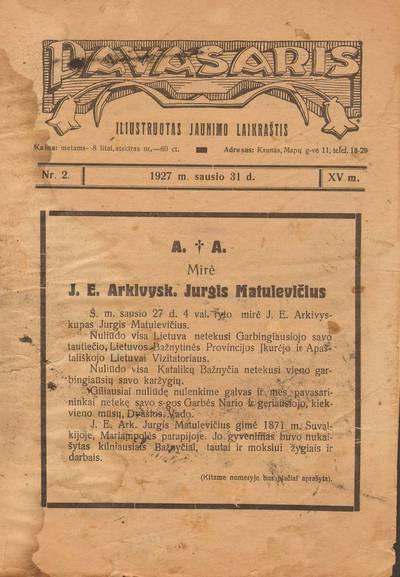 PAVASARIS. 1927-01-31