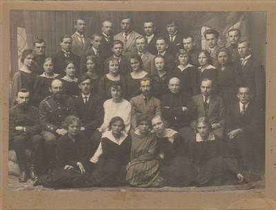 """Nežinomas fotografas. Kauno """"Aušros"""" gimnazijos 1923 m. laida. 1923"""