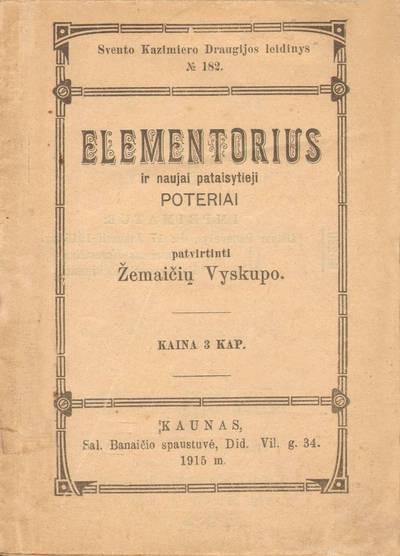 Elementorius. 1915