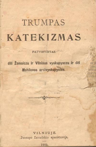 Trumpas katekizmas. 1905