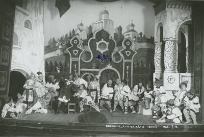 Operos spektaklio nuotrauka. 1935