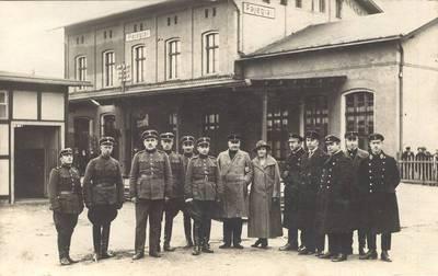 Pagėgių geležinkelio pasienio karininkai. 1939