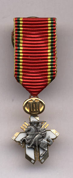 Apdovanojimas Už nuopelnus Lietuvai Riterio kryžiaus miniatiūra. 2009