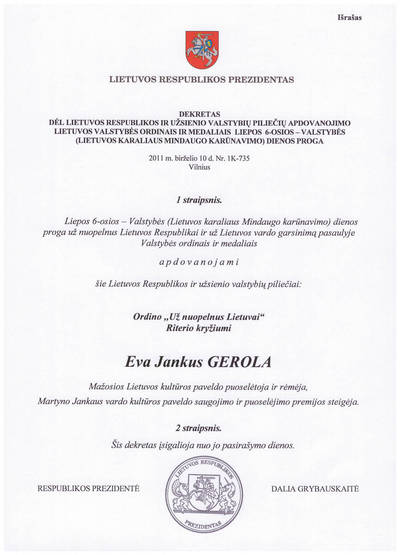 Lietuvos Respublikos Prezidento dekretas Nr. 1K-735