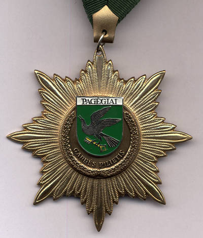 Pagėgių garbės piliečio medalis. 2013