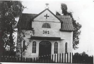 Pagėgių kapiniųkoplyčia po pirmojo perstatymo. 1968