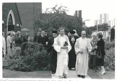 Elzės Jankutės laidotuvių procesija. 1985