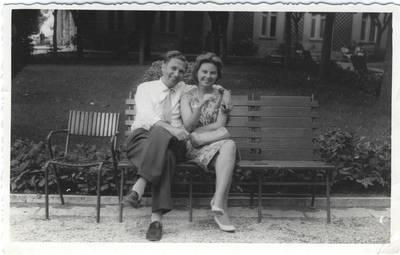 Nuotrauka. Eva Milda Jankus-Gerola su vyru Augusto Gerola. 1962