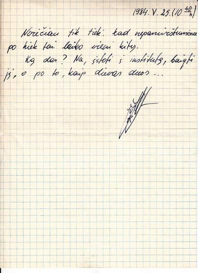 Rimanto Juknevičiaus (1966-08-09-1991-01-13) norai, mokyklos išleistuvių dieną. 1984