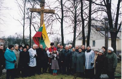 Algimantas Lelešius. Kryžius vyskupui kankiniui Vincentui Borisevičiui. 2000-11-26