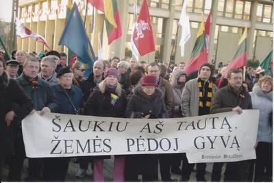 Algimantas Lelešius. Tautinio jaunimo eisena prie seimo rūmų. 2014-03-11