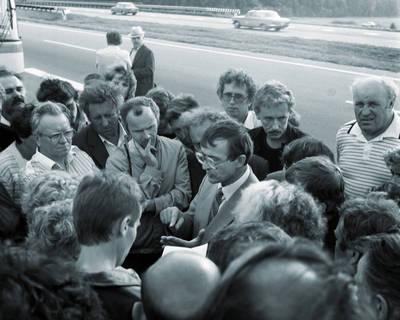 Antanas Gudelevičius. Marijampoliečiai Baltijos kelyje 1989-08-23