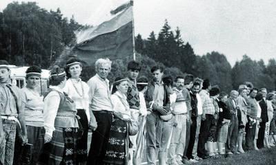 Juozas Vaškelis. Marijampoliečiai Baltijos kelyje 1989-08-23. 1989-08-23