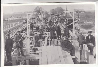 Marijampolė. Tilto per šešupę statyba 1927-28 m. 1927