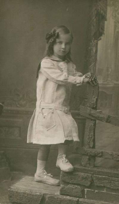 Nežinomas fotografas. Nuotrauka. Danutė Lipčiūtė. 1920