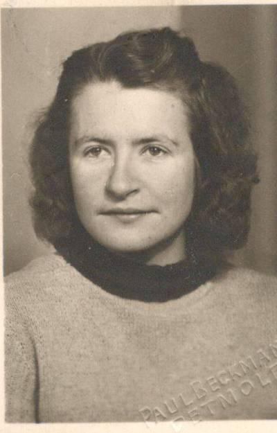 Paul Beckmann. Nuotrauka. Dalia Sruogaitė. 1945